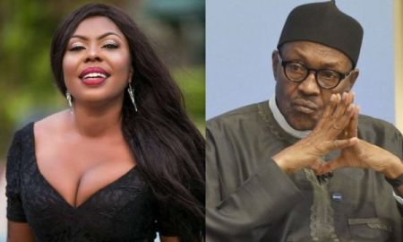 Afia Schwarzenegeer asks nigerians not to vote for Buhari