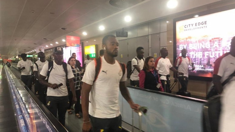Black Stars finally arrive in Accra after Exiting From AFCON campaign 2