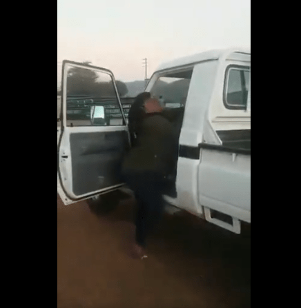 Angry Wife beats up Husband's side-chic on the street 4