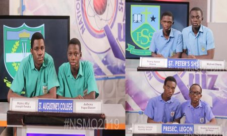 Winners Of 2019 National Maths And Science Quiz,Grand Finale Of the 2019 National Maths and Science Quiz,St Augustine's Joins St Peter's & Presec For Grande Finale