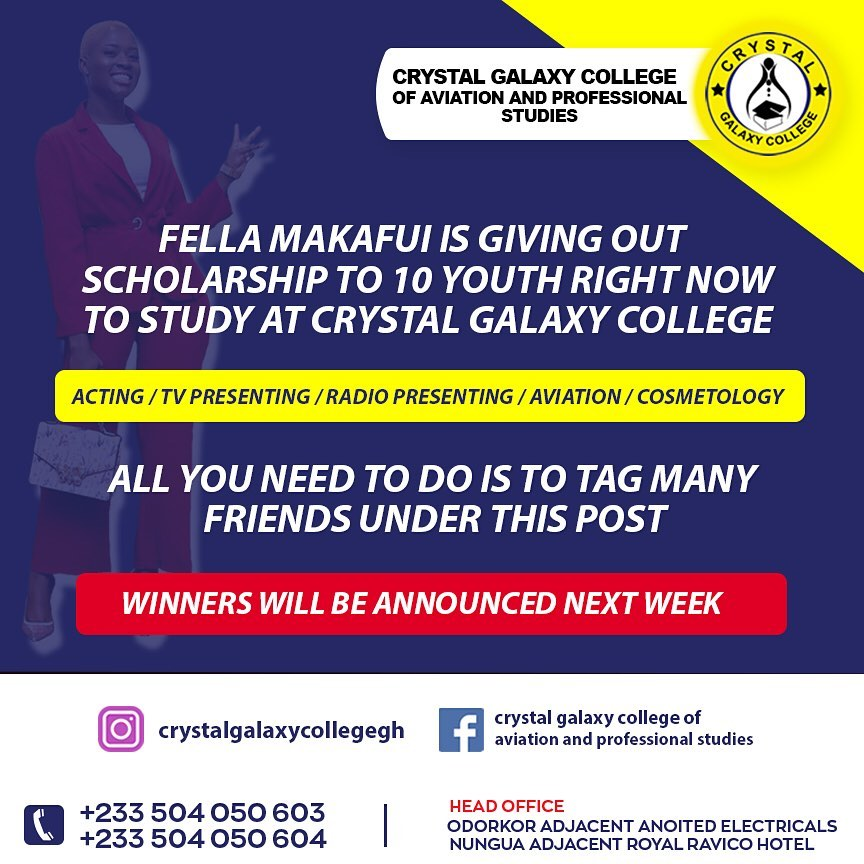 Fella Makafui Is Giving Out Full Scholarship To 10 Ghanaian Youth