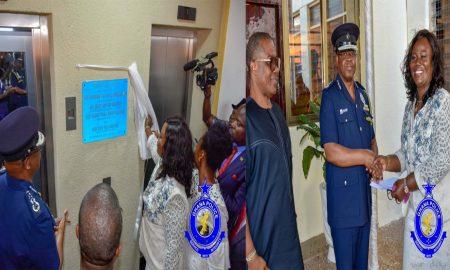 Tiwaa Addo, CID Boss Commissions new elevator
