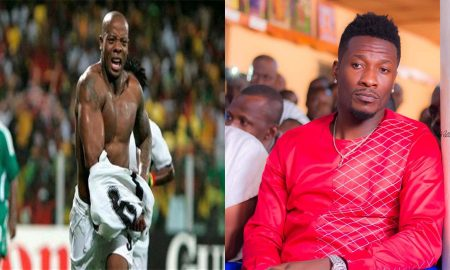 Asamoah Gyan and Junior Agogo
