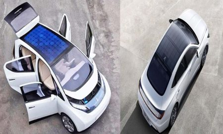 Car with a solar roof