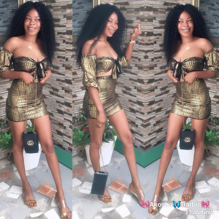 Photos Of Akosua Barbie, The Slay Queen Who Died For Snatching Someone's Husband 7