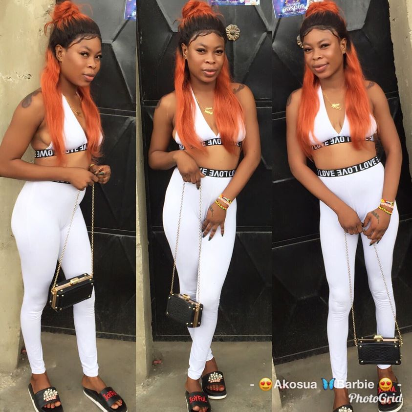 Photos Of Akosua Barbie, The Slay Queen Who Died For Snatching Someone's Husband 3