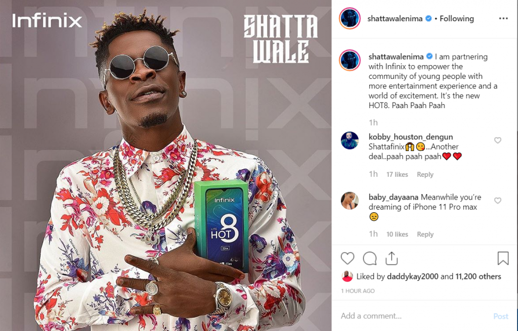 Shatta Wale Talks About His New Deal With Infinix Mobile 2