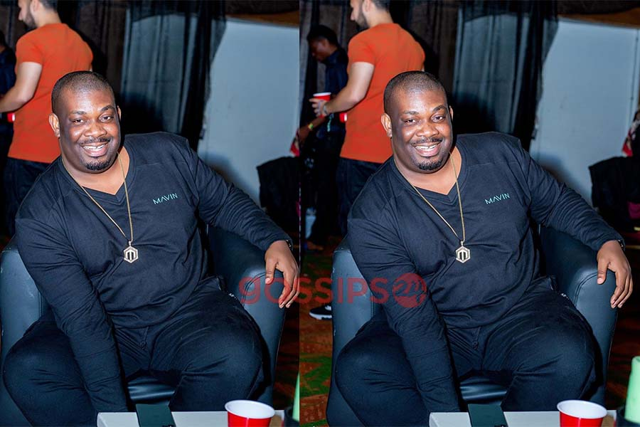 Don Jazzy hangs out in Accra