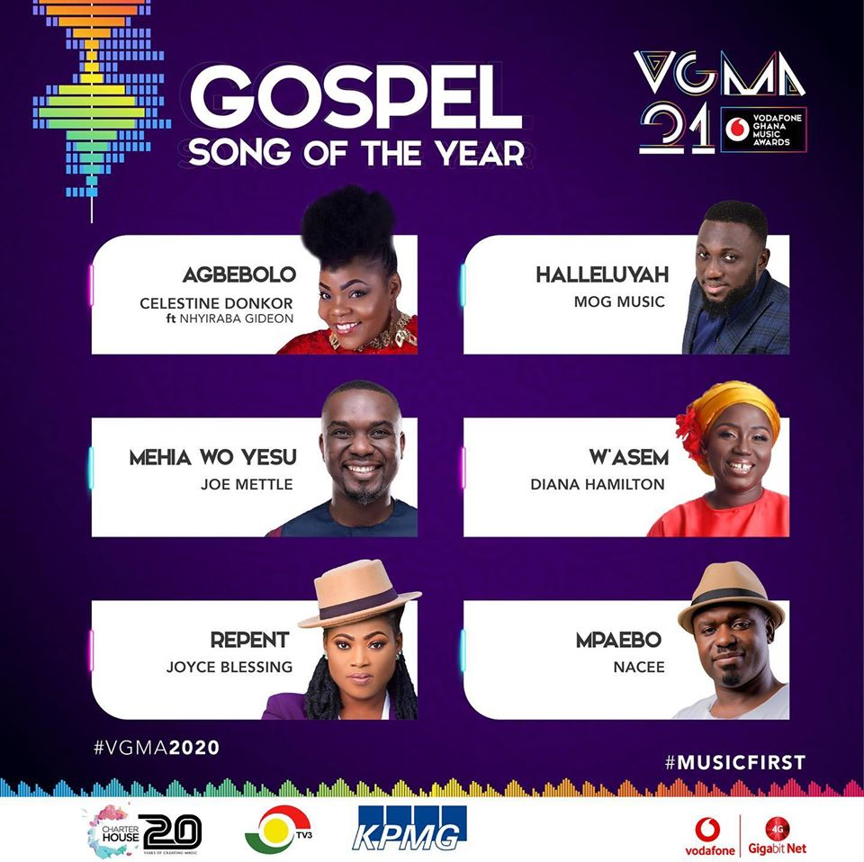 VGMA 2020: Gospel Song of The Year