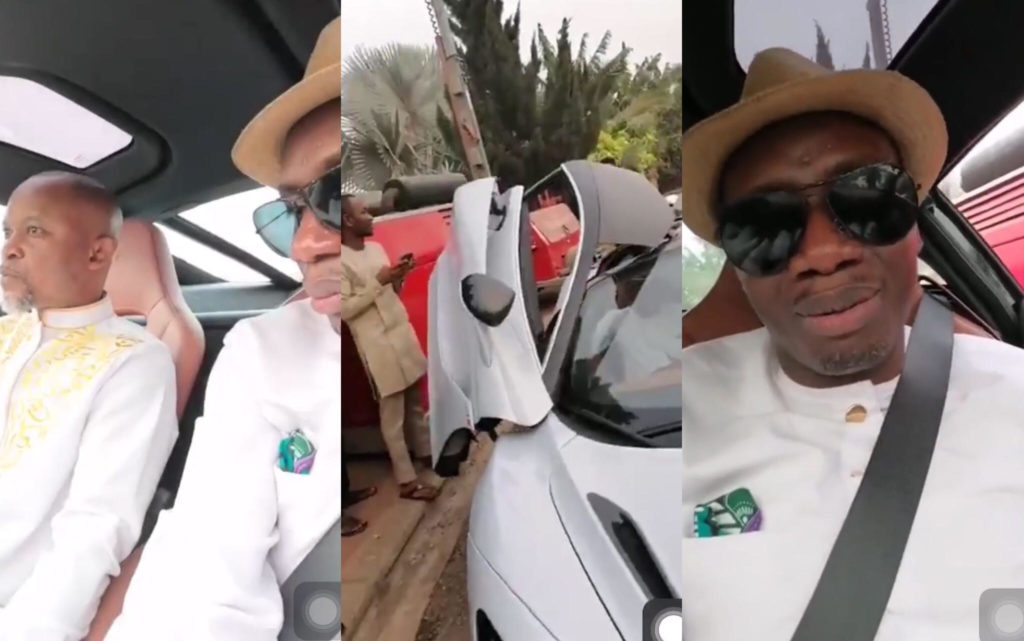 See how Counselor Lutterodt reacted after Cruising in a McLaren Car with Fada Dickson (VIDEO) 1