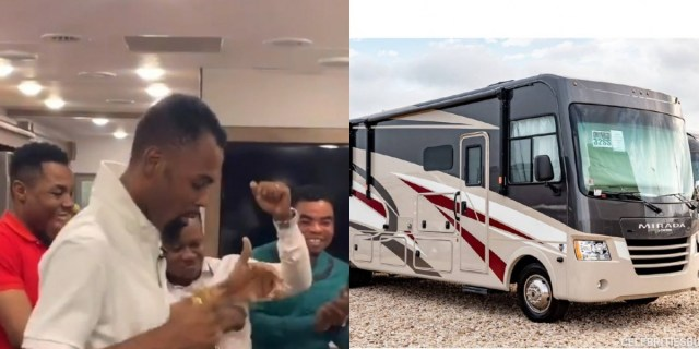 Rev. Obofour buys an expensive car with hall, bedroom, kitchen, washroom, wardrobe, etc & Organize party in it (VIDEO) 1