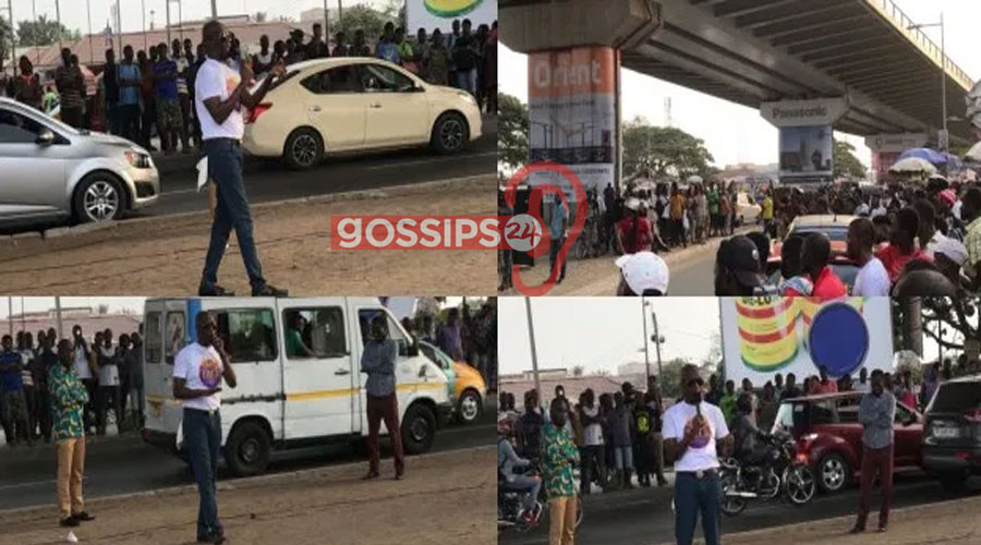 Prophet Kofi Oduro spotted preaching at Kwame Nkrumah Circle overhead (Photos) 1