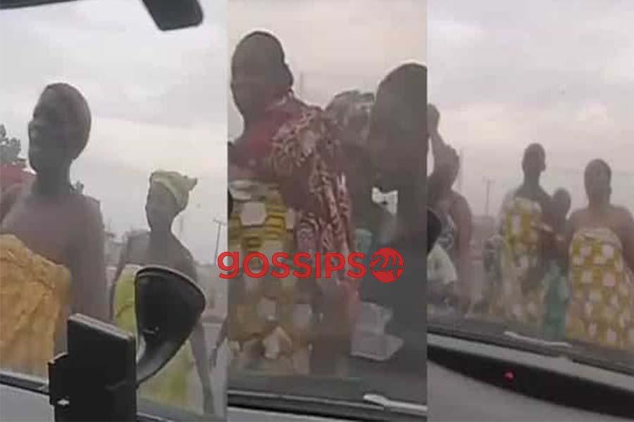 Women go topless to pray against coronavirus