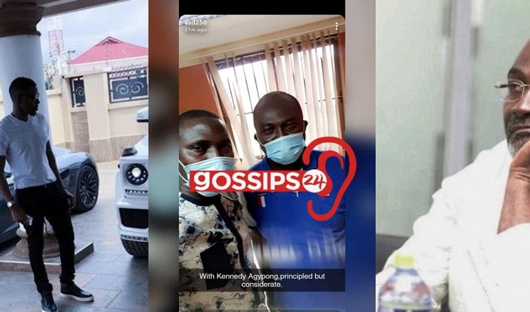 Ibrah One's brother, Abass stormed Kennedy Agyapong's house to beg him