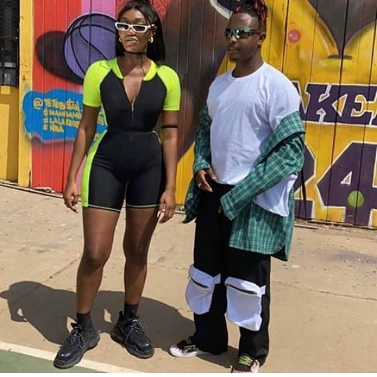 Social media users mock Wendy Shay over her photo with Kelvyn Boy