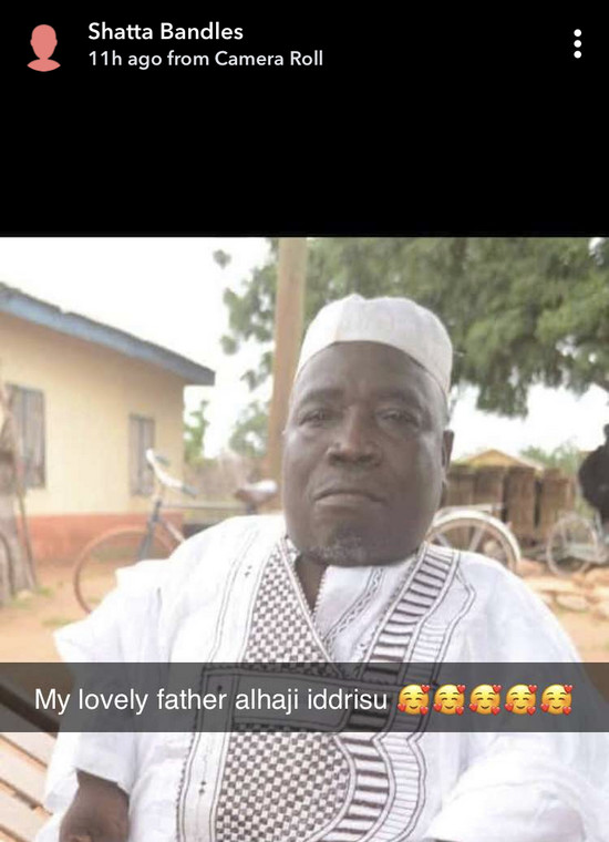 Shatta Bandle's father, Alhaji Iddrisu is dead