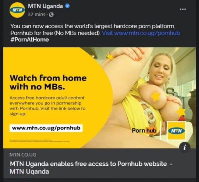 MTN give customers free access to Pornhub website