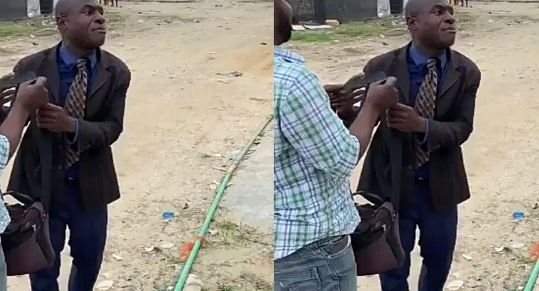 Angry Pastor curses man who called him a beggar