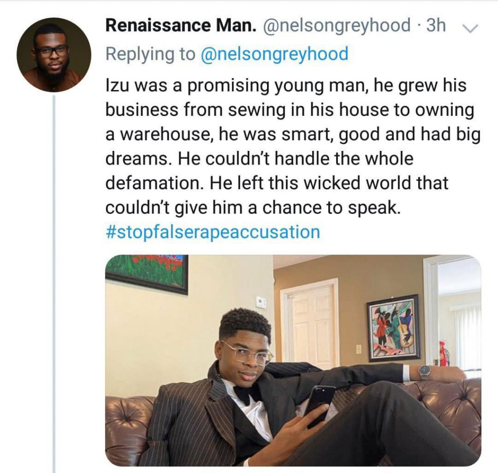 Young man commits suicide after social media lady falsely accused him of rape