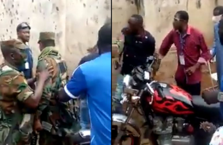 National Security operative threatens to shoot Police Officer in public