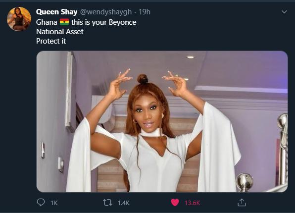 I'm Ghana's Beyonce -  Wendy Shay insists