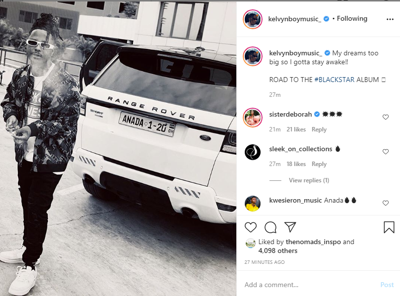 Kelvyn Boy flaunts his second-hand Range Rover