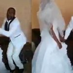 "Groom speaks in tongues after he was asked to ""kiss the bride"""