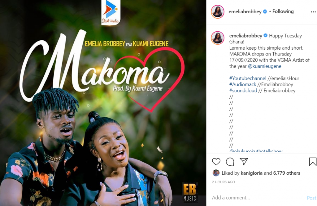 Emelia Brobbey set to release her new song with Kuami Eugene 1
