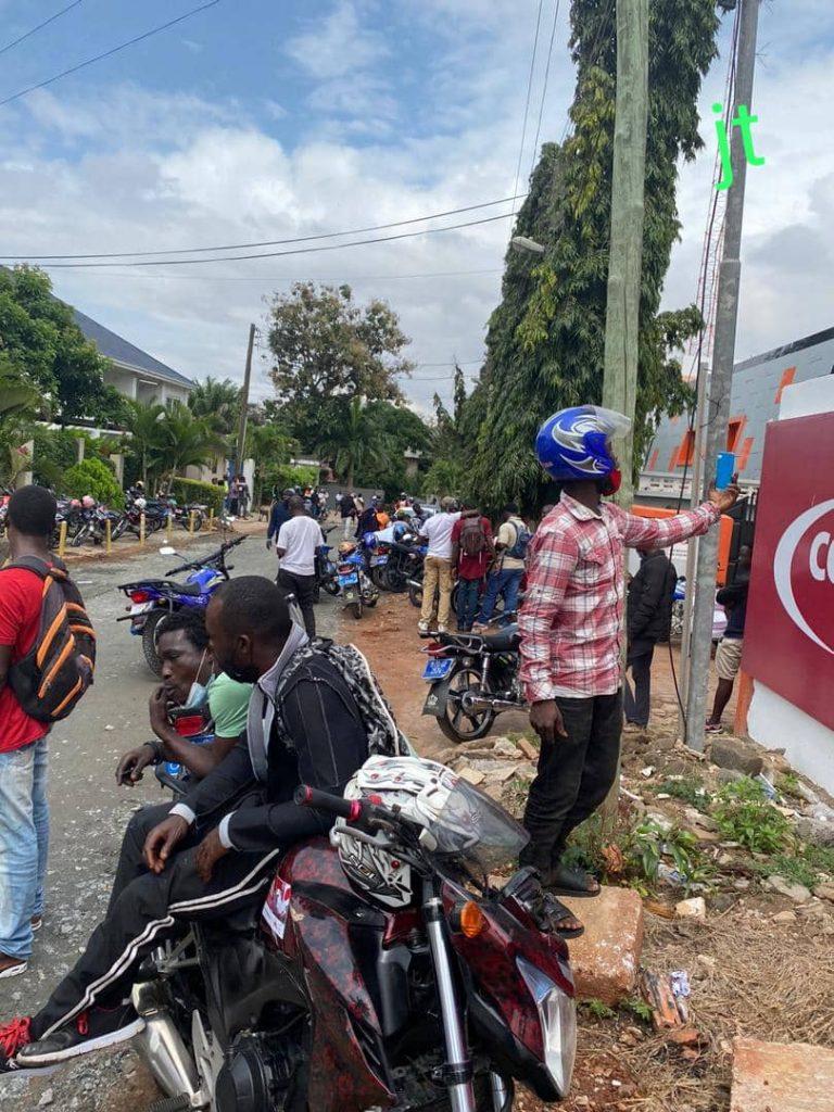 Okada riders storm Class FM to meet John Mahama