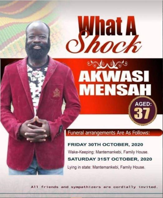 Popular Kumawood actor, Akwesi Mensah is dead