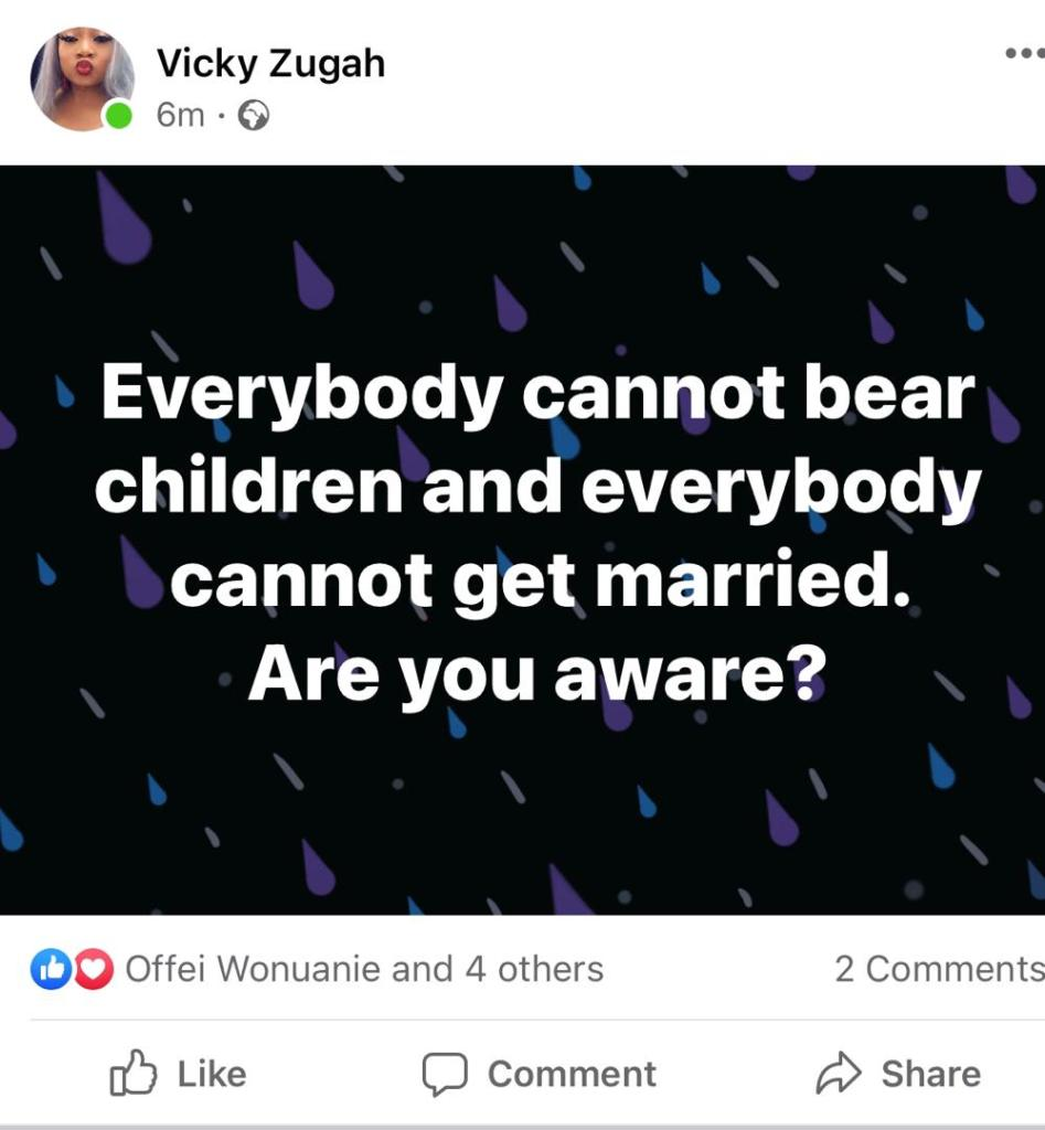 Not every woman is destined to give birth - Vicky Zugah tells to Selly Galley
