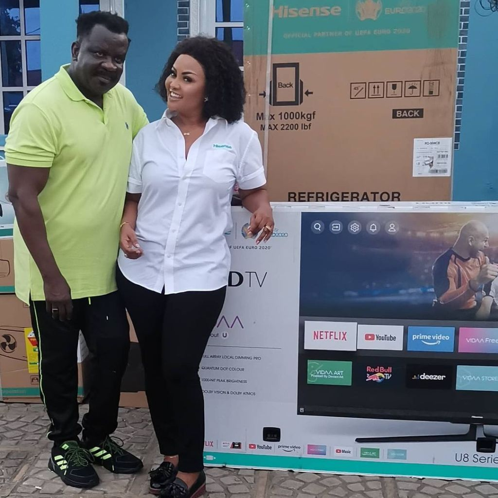 Nana Ama Mcbrown Surprises Koo Fori With Home Appliances After His House Burnt To Ashes
